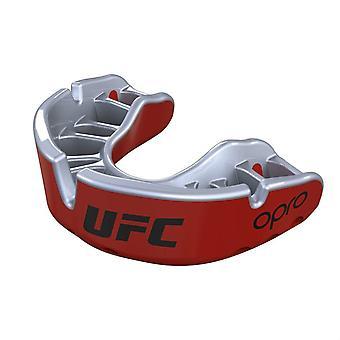 OPro Junior UFC gouden mond bewaker rood metaal/zilver