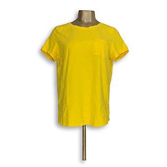 C. wonder Women ' s top Essentials SLUB brei Scoop nek geel A289715
