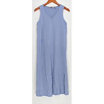 Anybody Petite Dress Loungewear Cozy Knit V-Neck Periwinkle Blue A306939
