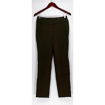 Martha Stewart Pantalon Stretch Twill Slim Leg Tummy Control Vert A307742