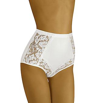 Wolbar Kobiety's Eleganta Lace High Waist Brief
