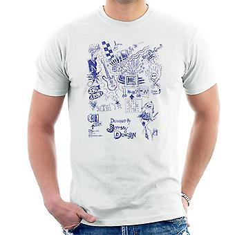 Zits blau Biro Doodles Männer's T-Shirt
