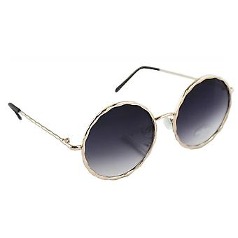 Sunglasses UV 400 Round gold ZwartHL207_2