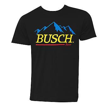 Busch Beer Gold Logo Black Tee Shirt