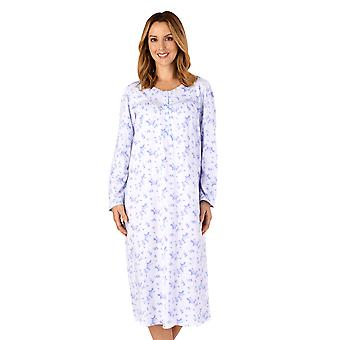 Slenderella ND4116 kvinder ' s Jersey blomstret bomuld natkjole