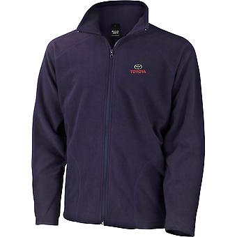 Toyota Car Embroidered Logo Name - Microfleece Light Jacket