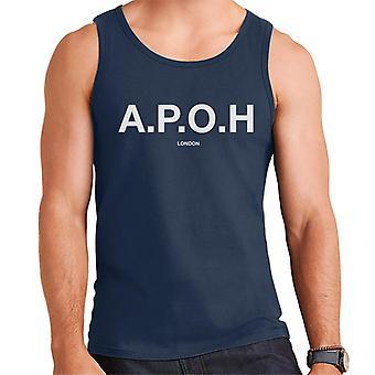 A. P. O. H klassisk hvid logo mænd ' s vest