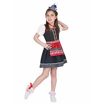 Bergwelt Bayern Kostüm Dirndl Schweizerin Mädchen Oktoberfest Mädchenkostüm