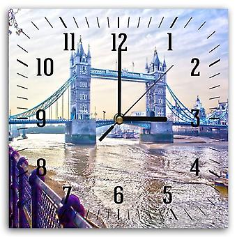 Decorative Clock With Picture, London Bridge