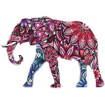 Autocollant Sticker Voiture Moto Macbook Deco Elephant Fleur Rose Animal Frigo
