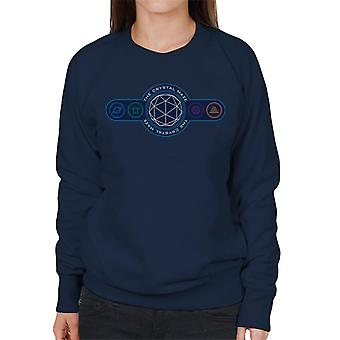 The Crystal Maze Logo Coloured Symbols Women's Sweatshirt