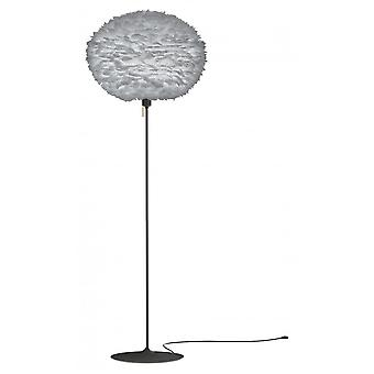 Umage Eos Floor Lamp - Light Grey Feather Eos Large/Black Stand