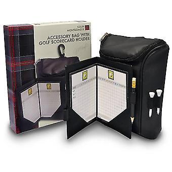 Colin Montgomerie Score Karte Beutel mit Tasche
