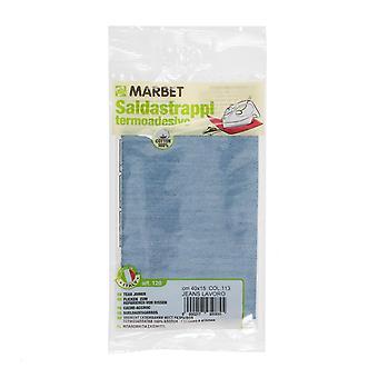 Marbet MB120.113 | Travaux de réparation tissu de coton | Fer-sur | 40 x 15cm | Jeans