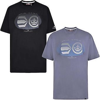 Crosshatch Mens Eliptical Plus Short Sleeve Crew Neck Cotton T-shirt Tee Top