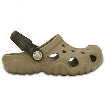Crocs 202607 Swiftwater Kids Clogs Mushroom/espresso