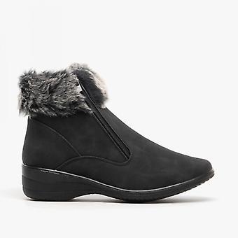 Dr Keller Bev Ladies Ankle Boots Black