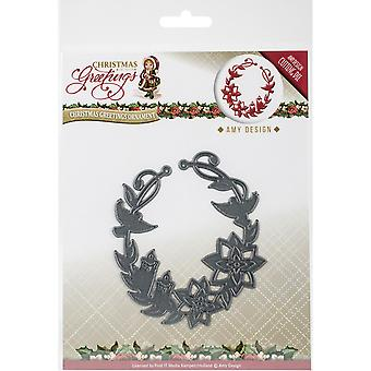 Find It Trading Amy Design Die-Ornament, Christmas Greetings
