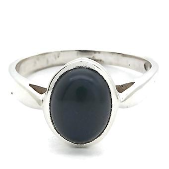 Onyx Ring 925 Silver Sterling Silver Silver Women's Ring Black (IRM 166-03)