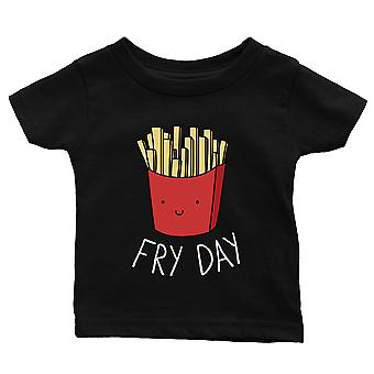 365 Printing Fry Day Baby Graphic T-Shirt Gift Black Infant Tee Baby Shower Gift