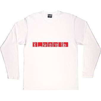 Creatures White Long-Sleeved T-Shirt