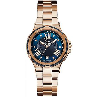 GC Y34009L7 - watch Structura Cable steel Dor Rose dial blue woman