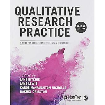 Qualitative Research Practice: A Guide for Social Science Students and� Researchers