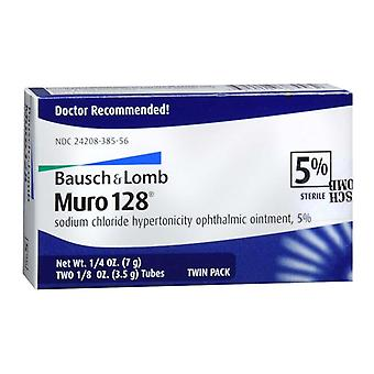 Bausch & lomb muro 128 ointment, 5%, twin pack, 1 ea