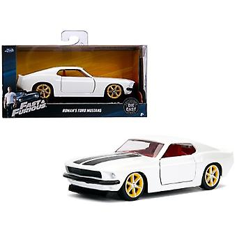 Roman's Ford Mustang White with Red Interior Fast & Furious Movie 1/32 Diecast Model Car by Jada