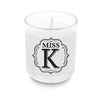 Heart & Home Alphabet Votive Candle - Miss K