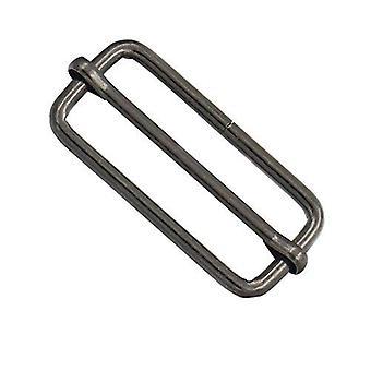 50mm Metal Gunmetal Triglide Slider Bar Buckle