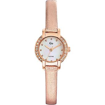 Shows Go Girl Only 698631 - Watch leather gold pink woman
