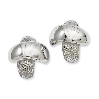 Stainless Steel Textured and Polished X Post Boucles d'oreilles Bijoux Cadeaux pour les femmes