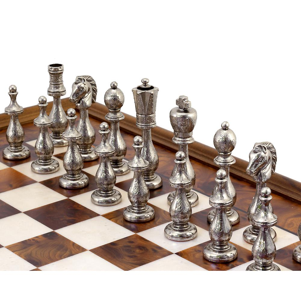 Maghreb Brass and Briarwood Chess Cabinet