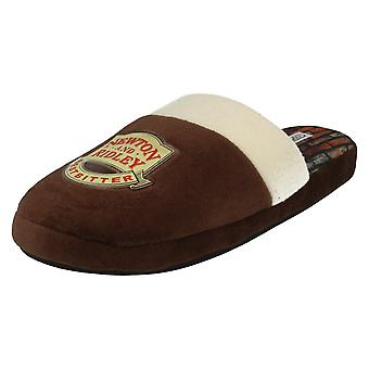 Mens Silent Night TV Soap Based Coronation Street Mule Slippers Newton