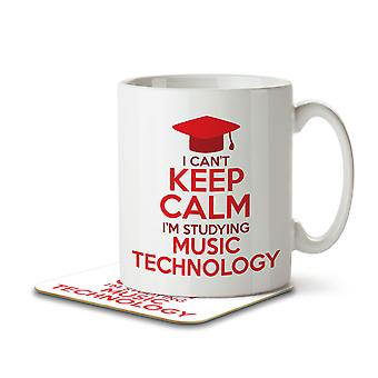 I Can't Keep Calm I'm Studying Music Technology - Mug and Coaster
