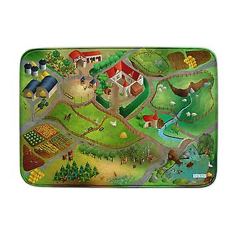 Achoka Farm Road Ultrasoft Playmat 130 x 180cm For Toddlers