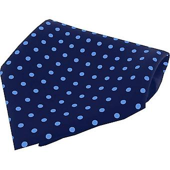 David Van Hagen Polka Dot Silk Pocket Square - Red/White