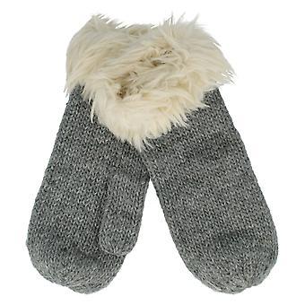 Damen Rjm Zubehör Handschuhe mit Kunstpelz Trim Style - GL409