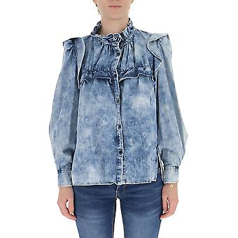 Isabel Marant ÉToile Ch061720p022e30bu Women's Blue Cotton Shirt