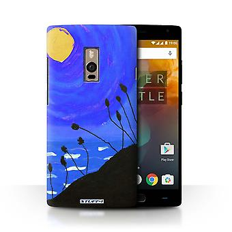 STUFF4 Case/Cover for OnePlus 2/Two/Navy Blue/Sunset Oil Painting