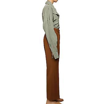 Acne Studios Ak0221295 Women's Calças de Poliéster Marrom