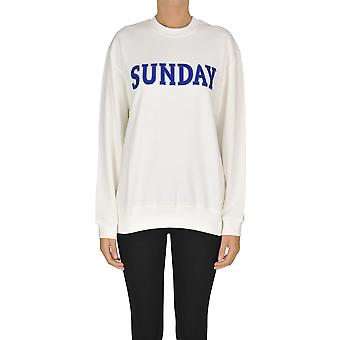 Alberta Ferretti Ezgl095031 Dames's White Cotton Sweatshirt