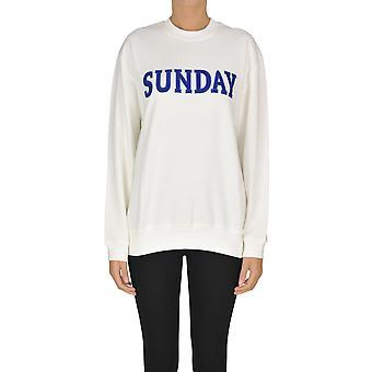 Alberta Ferretti Ezgl095031 Kvinder's Hvid Bomuld sweatshirt
