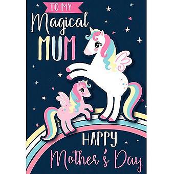 Eurowrap Unicorn Mothers Day Greetings Card