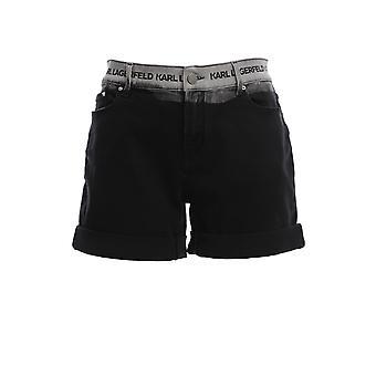 Karl Lagerfeld Klwst000300947005 Femmes-apos;s Short en coton noir