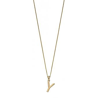 Joshua James 9ct Gold Letter Y Pendant
