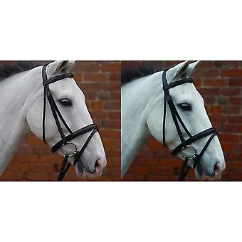 Hy Padded Flash Bridle with Rubber Grip Reins