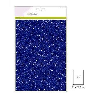 CraftEmotions glitter papier 5 Sh blauw +/- 29x21cm 120gr
