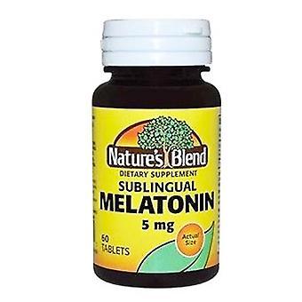 Nature's blend sublingual melatonin, 5 mg, tablets, 60 ea